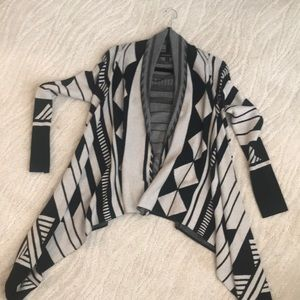 NEW banana republic black & white cardigan sweater
